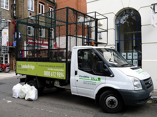 Team London Bridge Recycling van