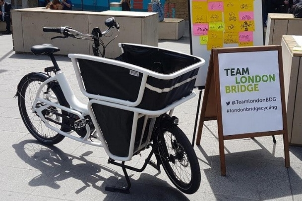 Team London Bridge Cargo Bike cropped 4x6